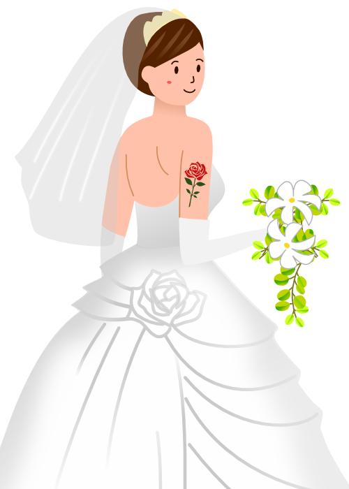 結婚とタトゥーや刺青の除去